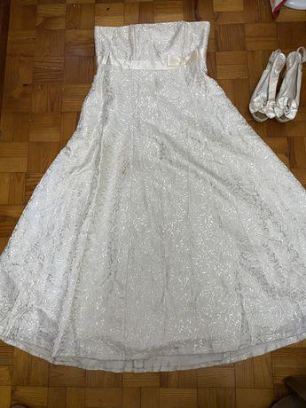 Oportunidade vestido de noiva L- MODELO EXCLUSIVO ( lêr descrição)