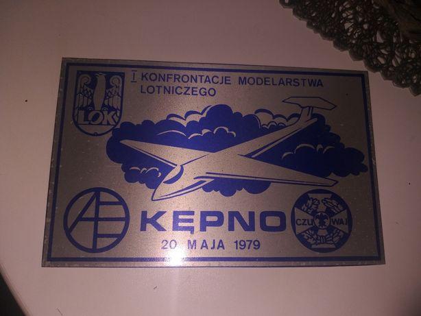 Kępno-reklama modelarstwa lotniczego 1979 okres PRL