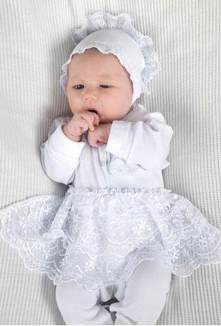 Комплект на выписку/крещение БЕСПЛАТНАЯ ДОСТАВКА девочки 0-3 месяца