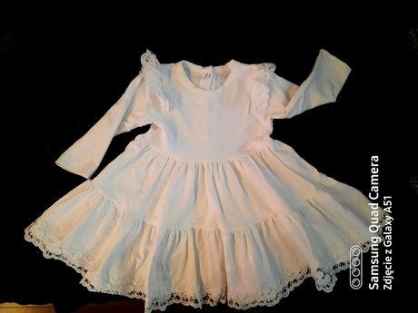 Komplet na Chrzest r.86 ( sukienka, bolerko,buty, opaska)