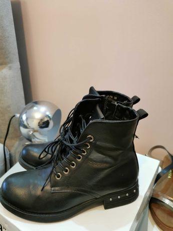 Buty zimowe czarne 36