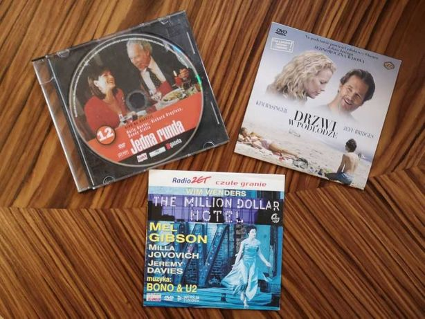 """""""Drzwi w podłodze"""", """"The Million Dollar Hotel"""", """"Jedna runda"""" - DVD"""
