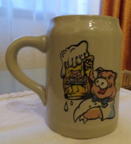 Caneca Criança, Pequeno Almoço 3 Porquinhos, em cerâmica 0,5 L - Nova