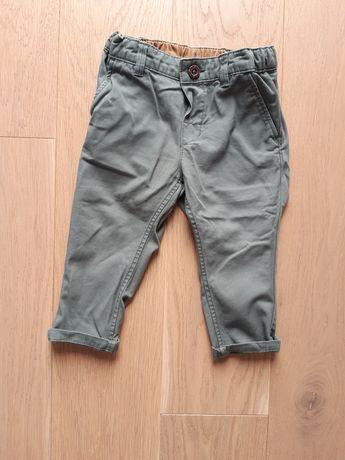 Zielone eleganckie spodnie chłopięce, 80, h&m