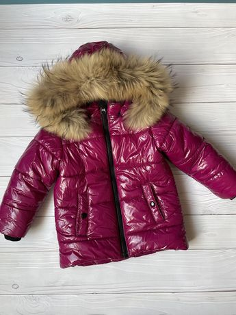 Детский зимний комбинезон для девочки 104-110