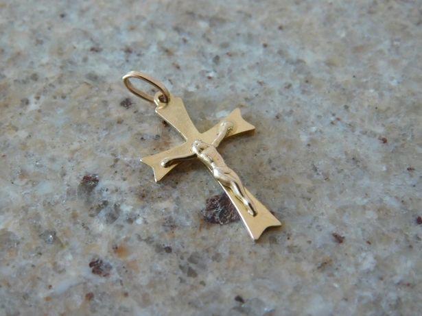 Krzyżyk Złoty ładny 585 do łańcuszka ZŁOTO 14k
