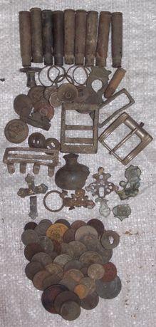 Монеты, гильзы маузер, находки с детектором,одним лотом
