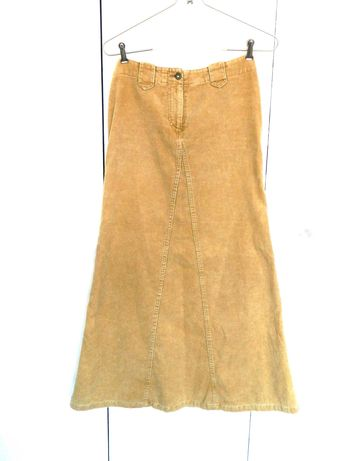 Длинная вельветовая юбка высокая талия H&M Довга спідниця S осінь