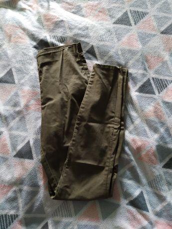 Cygaretki eleganckie khaki oliwkowe zielone h&m hm s 36