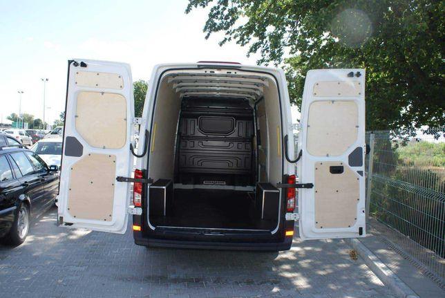 Zabudowa standardowa ze sklejki busa auta dostawczego Crafter L3H3