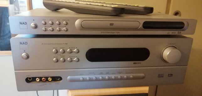 NAD T743 +NAD T514,aplituner i dvd