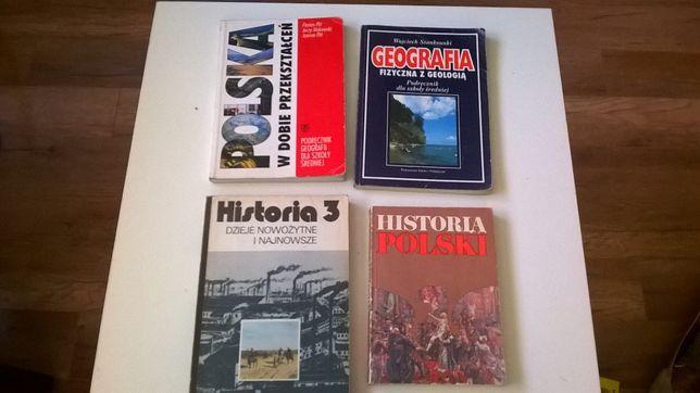 Podręczniki: geografia, historia