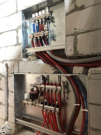 Теплый пол отопление водоснабжение разводка пайка опресовка труб