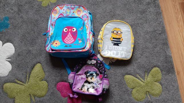 3 plecaki mały, średni, duży stan idsalny jak nowe