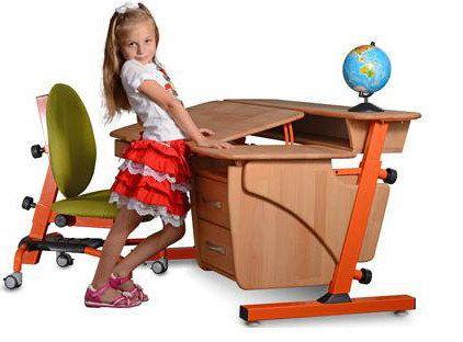 Парта Эргономик-Стандарт+растущий стул, цвета в наличии