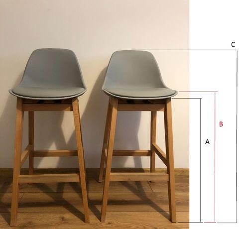 Krzesła hokery szare