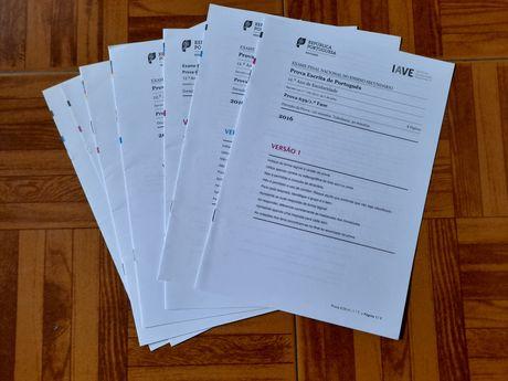 Dou exames impressos do secundário