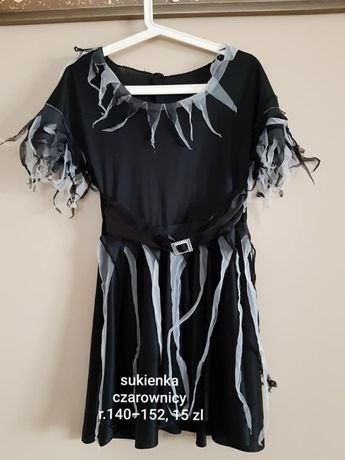 strój- sukienka czarownicy r.140-152