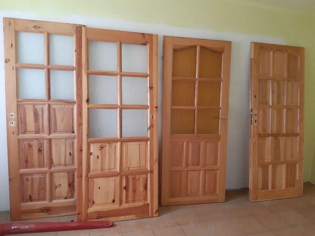 drzwi pokojowe drewno 80'