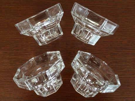Szklane świeczniki, 4 szt.