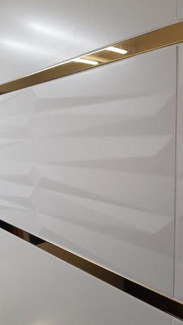 Listwa metalowa ozdobna złota do łazienki, kuchni, 2 metry