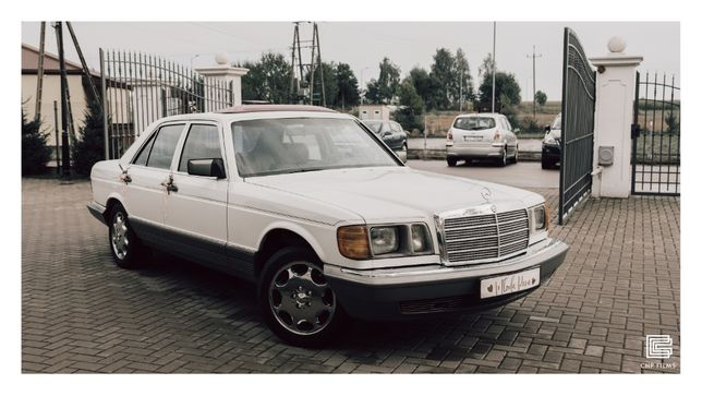 samochód do ślubu - retro Mercedes S-Class
