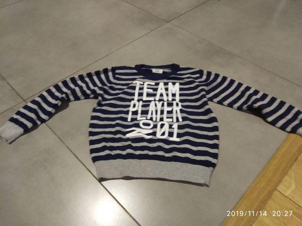Sweterek w paski cool club r 116