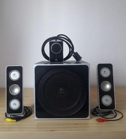 Głośniki LOGITECH Z4 2.1 40W subwoofer zestaw audio komputerowe