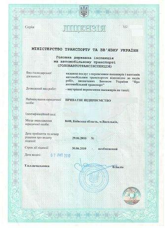Допомога в отримані ліцензії на перевезення