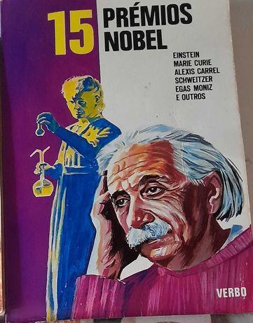 """Livro """" 15 Prémios Nobel) Antigo"""