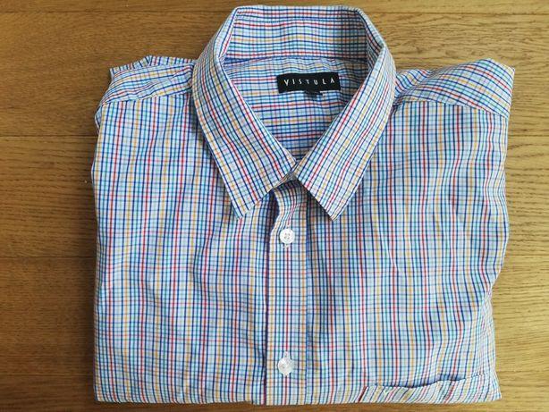 XXL Vistula koszula w kratę z długim rękawem