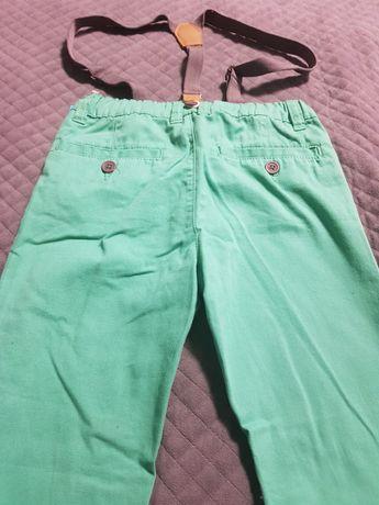 Spodnie z szelkami rozm 128