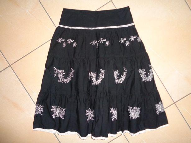 GEORGE Mary Kate and Ashley czarna białe hafty spódnica spódniczka 152