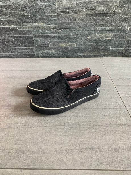 r. 34 - 21 cm / RESERVED czarne trampki tenisówki buty