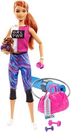 Кукла Барби Фитнес со щенком Barbie Fitness Made to Move Двигайся как