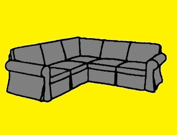 NOWE Pokrycie narożnika, 4-os., IKEA Ektorp 603.223.09 Nordvalla szary