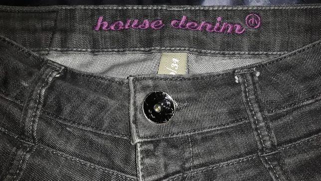 Szare jeansy House Denim.
