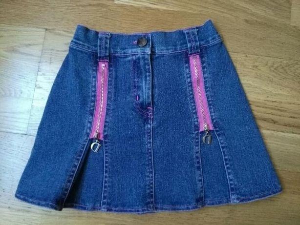 jeansowa spódniczka, rozm. 8 lat