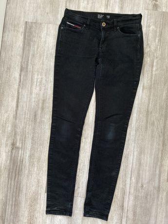 Czarne spodnie rurki Tommy Hilfiger M 38