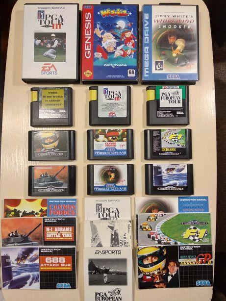 Картриджи для Sega Mega Drive Оригинал из Европы. Игры для Сега штучно
