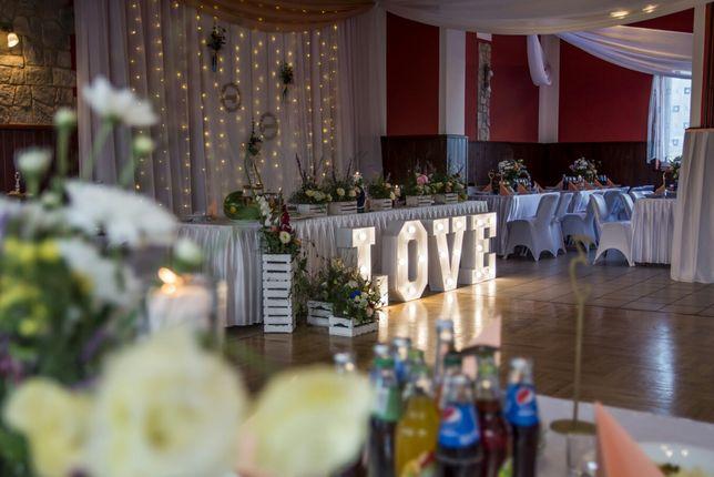 Biały Napis LOVE świecący ślub wesele 70cm