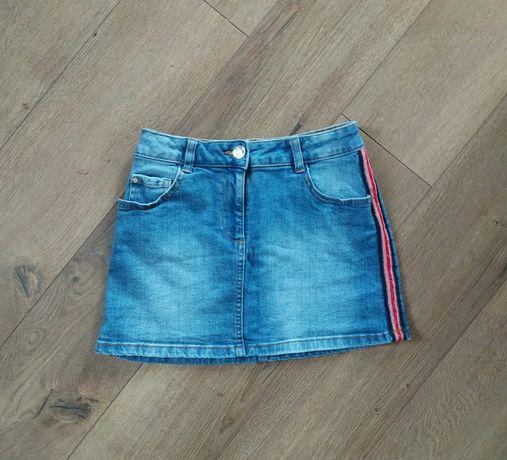 Юбка джинсовая с лампасами 6-7 лет