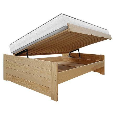 wysokie łóżko ze skrzynią otwierane z boku ASTI 160x200