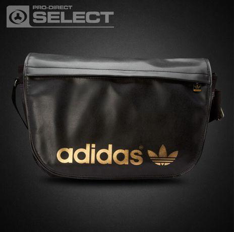 Вместительная сумка ADIDAS originals retro TREFOIL MESSENGER BAG BLACK