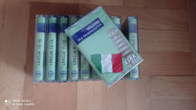 Włoski dla początkujących eskk kasety magnetofonowe 10 szt