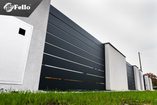 Przęsło Ogrodzeniowe Płot Ogrodzenie Aluminiowe Nowoczesne Panel SOLID