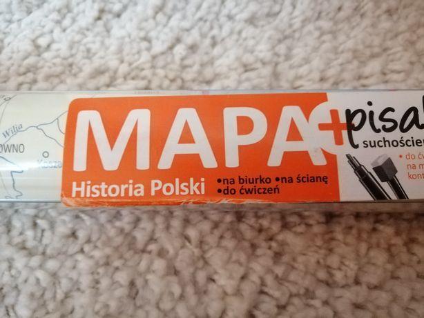 Sprzedam dwustronną mapę laminowaną Historyczną