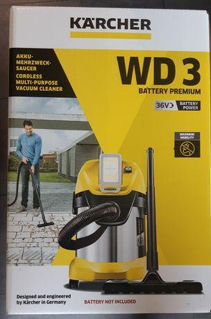 Karcher odkurzacz WD3 Premium bezprzewodowy, akumulatorowy, kurier,kpl