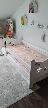łóżko dziecięce Mikołaj 160x80 białe drewniane