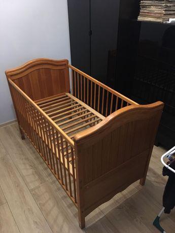 Piękne łóżeczko dębowe VOX 140x70